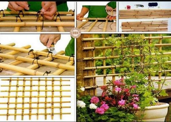 Tips to Make Your Own Trellis Netting for Flower or Vegetable Vines.