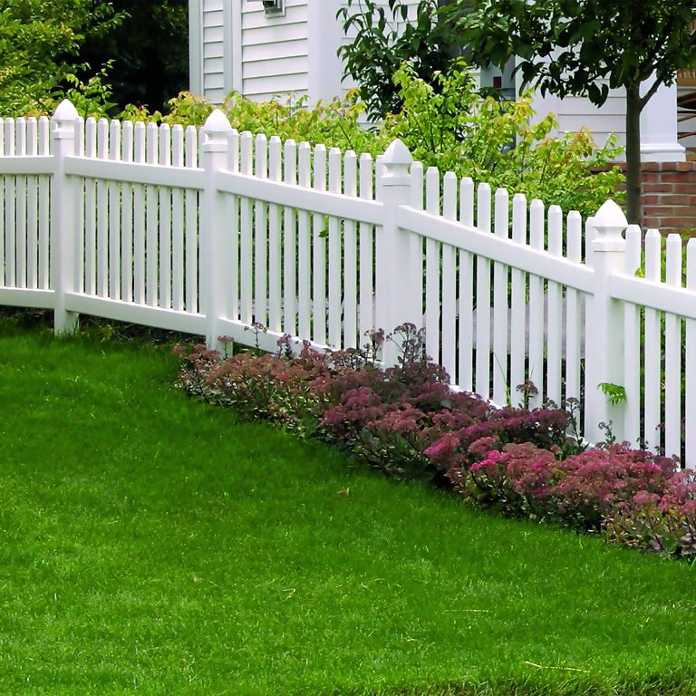 Plastic fencing comes in extraordinary hues and designs.