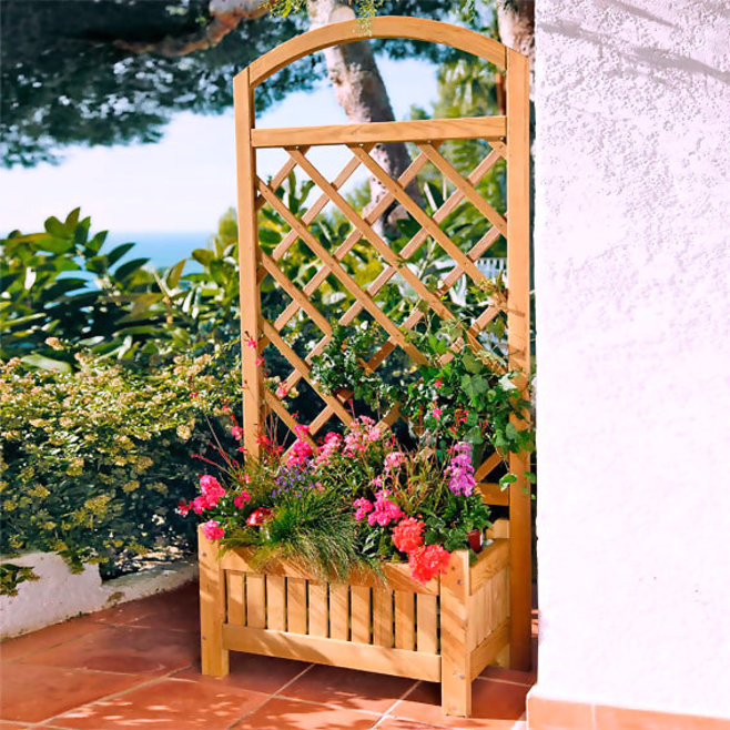 Overview about Wood Trellis