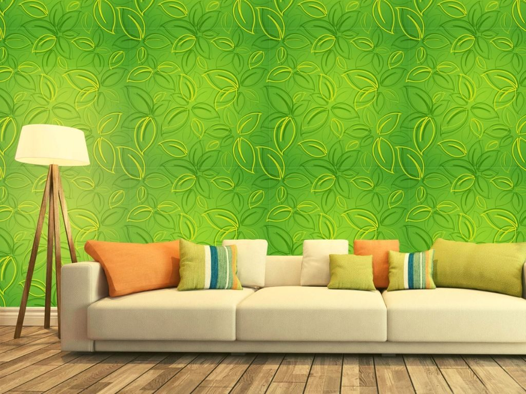 Green wallpaper will furnish an ecosystem of leisure to a room.