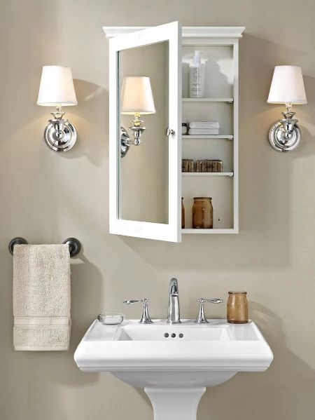Bathroom cabinet style with mirror