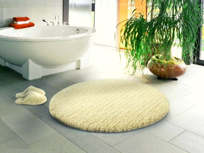 Bathroom Rugs are available in many sizes and shapes like square, round, rectangle, and oval.