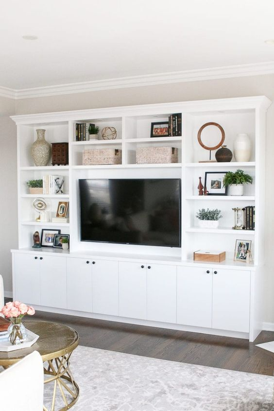 17 Neutral Living Room Cabinets Storage Ideas That You Will Love