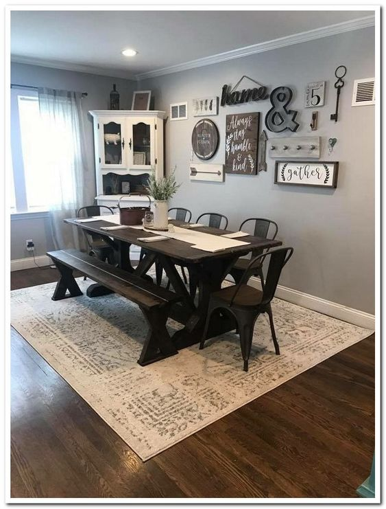 14 Cool Farmhouse Dining Room Decorating Ideas On A Budget