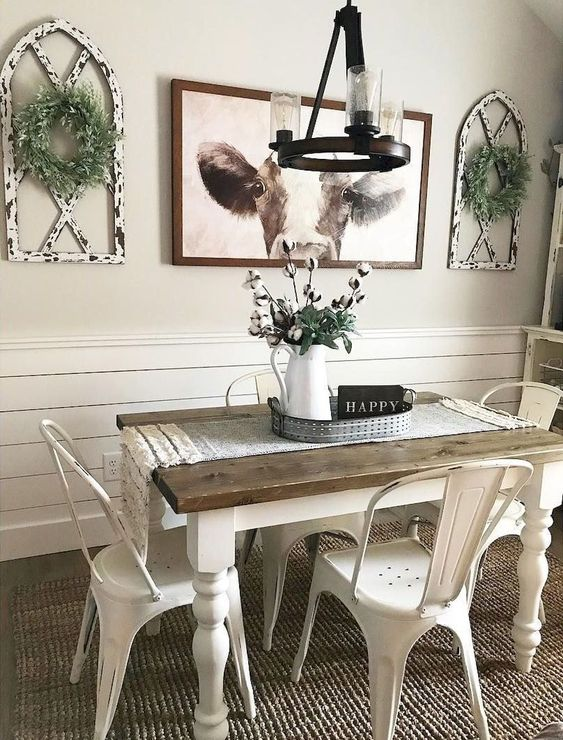 14 Cool Farmhouse Dining Room