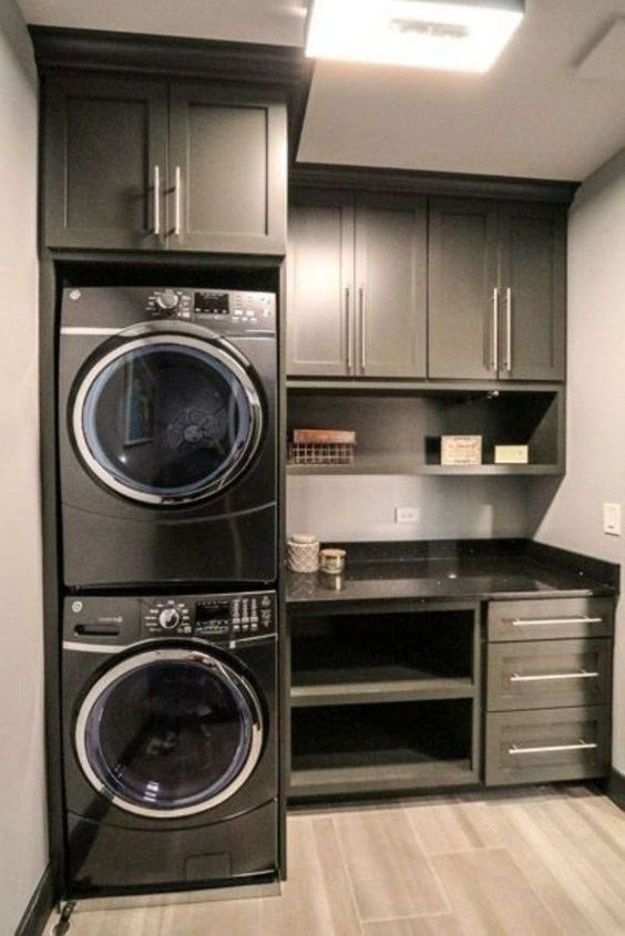 15 Perfect Small Laundry Room Storage Ideas To Consider on Small Laundry Room Cabinets  id=27523