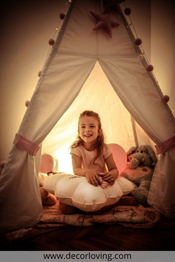 kids tent in kids bedroom