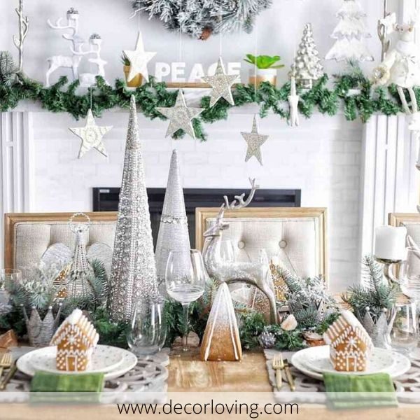 Strange 17 Stunning Ideas For Christmas Table Decorations You Must Know Machost Co Dining Chair Design Ideas Machostcouk