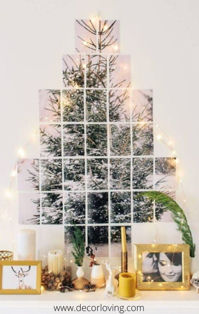 20 Ideas To Decorate Your Home With A Wall Christmas Tree