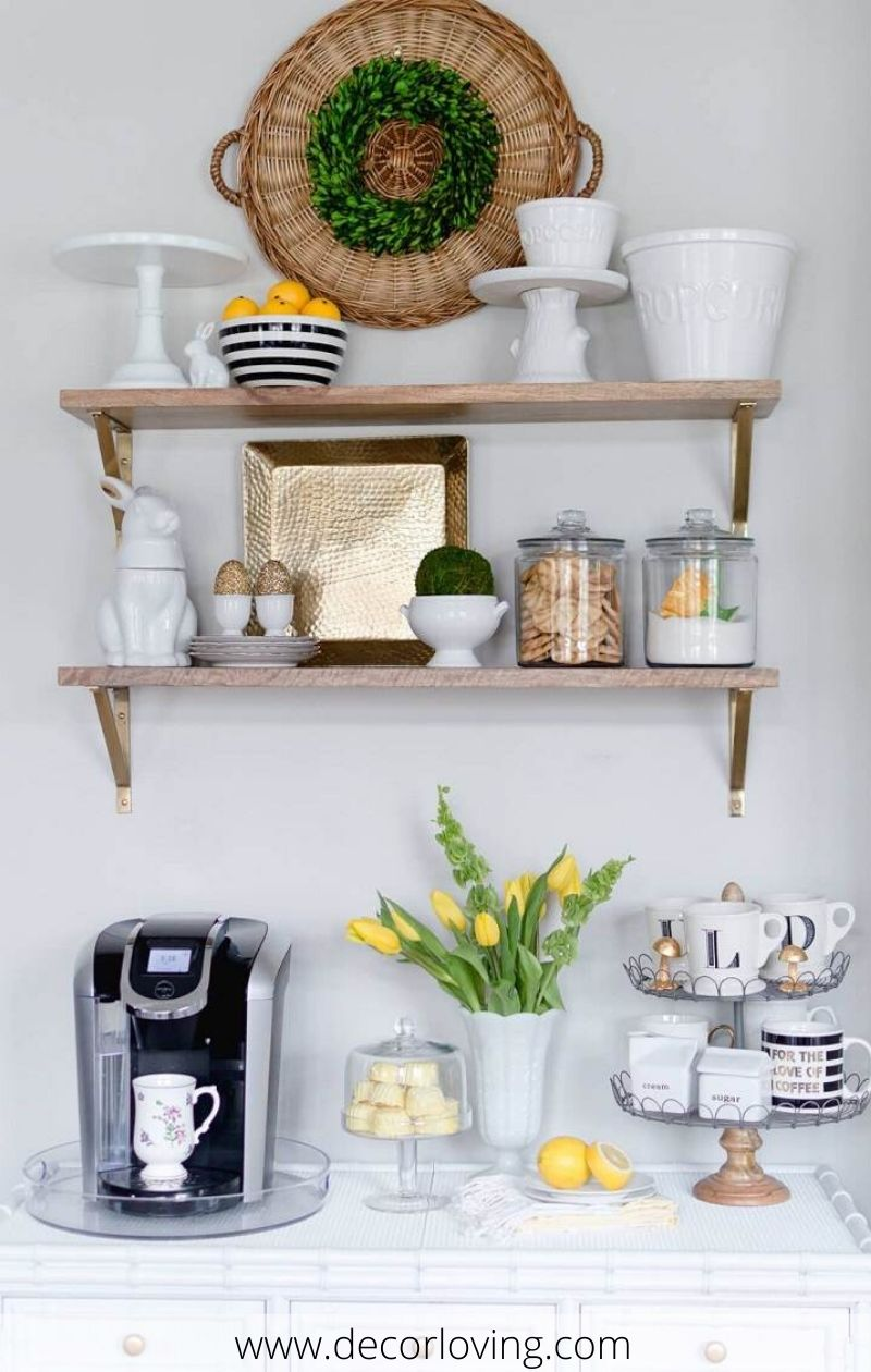 Cheap Decorating Ideas To Create A Small Coffee Corner In The Kitchen